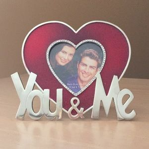 You and me couples heart picture frame